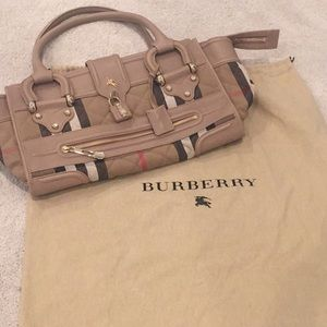 Burberry Classic Check Leather Bag